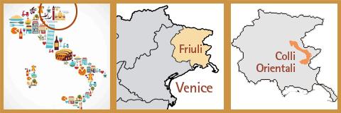 colli orientali map - Guerra Albano